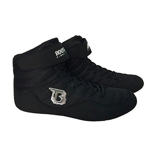 Booster BCS Black Schwarze Boxstiefel, Boxerschuhe, Boxschuhe (42)