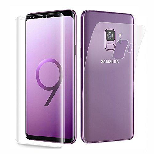 Samsung Galaxy S9 Plus Front & Back Buff Screen Guard | Protective Film Case | Clear Screen Protector | Soft...