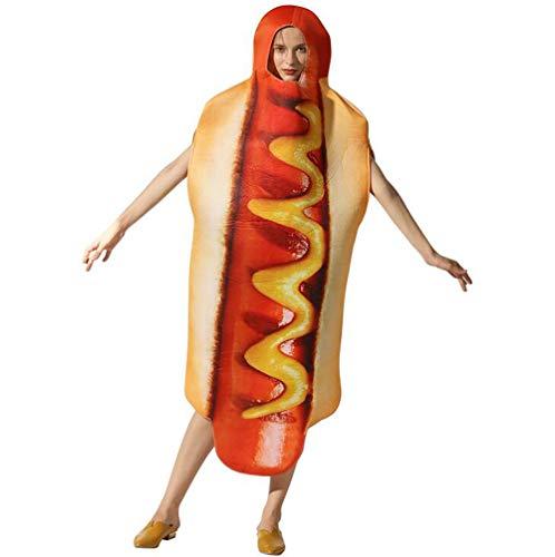 SHANGLY Halloween Kostüm Hot Dog Cosplay Kostüm Leichtgewicht Familienurlaub Karneval Cosplay Bühnenkleidung,Adult