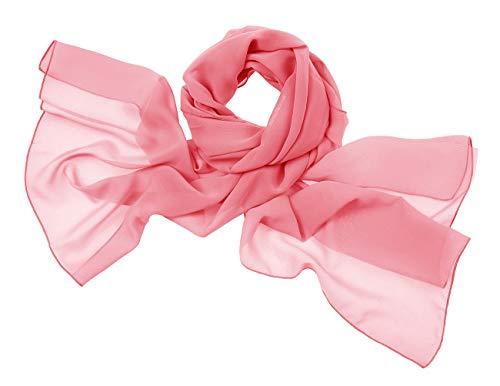bridesmay Chiffon Stola Schal Scarves für Kleider in Verschiedenen Farben Coral S Eleganter Schal
