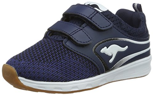 KangaROOS Unisex-Kinder Ron I V Low-Top, Blau (Dk Navy/White), 31 EU