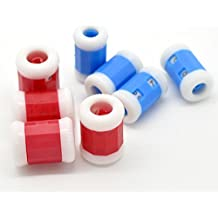 brovy (TM)–8pcs plástico para tejer cuentavueltas 2colores para tejer aguja DIY Mixed (S/M) 23x 13mm