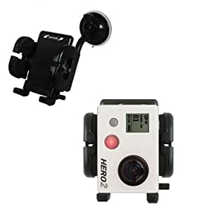 A suction cup mount attaches to your windscreen for GoPro Hero 2