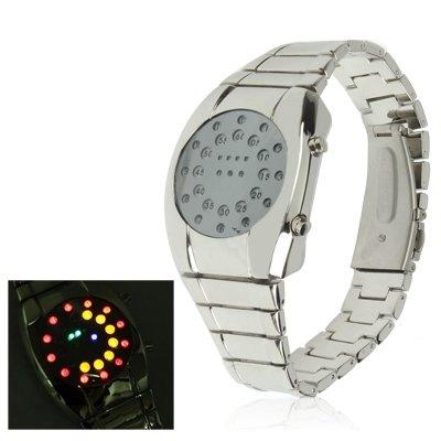 Happy grocery shop Einzigartig Luxus-LED-Uhr aus Edelstahl, sowohl für Männer als auch für Frauen Schön