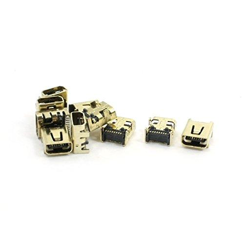 10 Stücke SMT Mini USB Jack Buchse Anschluss Socket Connector 8 Pin golden de -