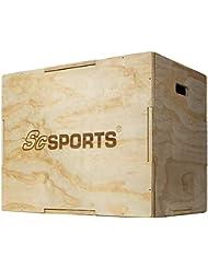 ScSPORTS Plyobox 3 in 1 aus Holz, Sprungbox für polymetrisches Training