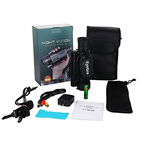 Telescopio de visión Nocturna infrarrojo monocular Night-Vision Night Time Navigation (Color:...