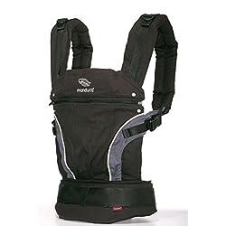 manduca First Babytrage > Black <| Das Original aus Hanf und Biobaumwolle | Atmungsaktiv | Patentierte Rückenverlängerung | Mitwachsend von 3,5kg bis 20kg
