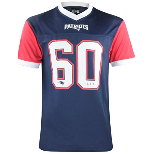 New Era NFL Tri Colour T-Shirt Supporters Collection Tee NFL Jersey Trikot Shirt American Football Streetwear New England Patriots M