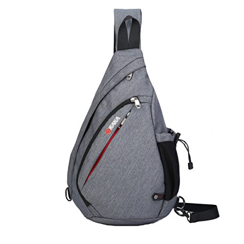 Klassische Messenger Bag Outdoor Fashion Chest Pack Gray