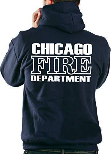 feuer1 Kapuzensweater CHICAGO FIRE DEPT. in navy mit Standard-Emblem und Schriftzug