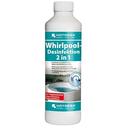 HOTREGA H150200 Whirlpool-Desinfektion 2 in1, Hochkonzentrierter Hygiene-Reiniger für Whirlpools Aller