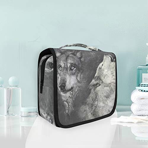 Make-up Kosmetiktasche Tier Wolfs Art Portable Storage Reise Kulturbeutel