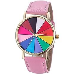 Para mujer reloj de cuarzo analógico de peonza coloures Gama oro multicolour - Colour rosa