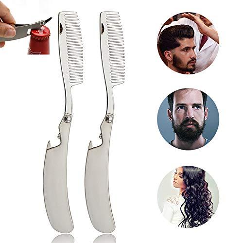 ZYJFP Haare Frisuren Kamm,Faltbar Rostfreier Stahl Hair Styling Accessories Bürste Kit Haar Styling Werkzeug 2 Stück - Rost Pad Kit
