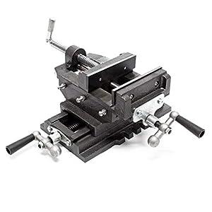 Máquina tornillo banco 2Ejes 150mm Tornillo banco Mesa cruz Banco trabajo Taller Perforación Fresado