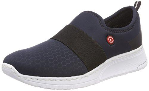 Rieker Damen N5051 Sneaker, Blau (Pazifik/Schwarz), 39 EU