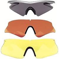 Beretta, Occhiali da tiro Oc12, Multicolore (rot-gelb-smoke), Taglia unica