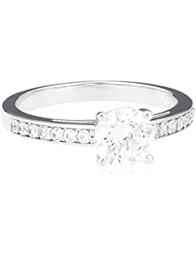 Swarovski Damen-Ring Metalllegierung Glas