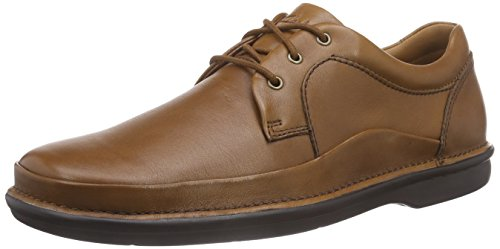 Clarks Butleigh Edge, Herren Derby Schnürhalbschuhe, Braun (Tan Leather), 42.5 EU (8.5 Herren UK) (Kleid Casual Clarks)