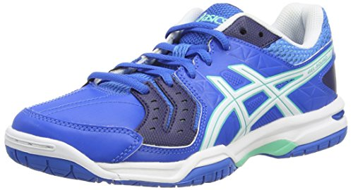 ASICS Damen Gel-Squad Handballschuhe, Blau (Electric Blue/White/Navy 3901), 40.5 EU