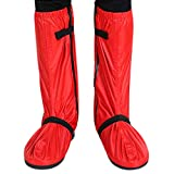 Boodtag Regenüberschuhe Unisex Wasserdicht Überschuhe Rutschfester Schuhüberzieher Outdoor Radsportschuhe Schwarz Blau Rot vor Regen, Schnee und Matsch