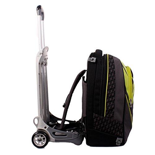 Imagen de 3en1  con ruedas  seven new jack  flash up  amarillo negro  extraíble y lavable  trolley con correas de hombro ocultables  escuela y viajes  35lt nuevo! alternativa