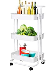 Ciplaplast : Kitchen Trolley with Wheels 3 Tier { Kitchen Rack & Shelves }