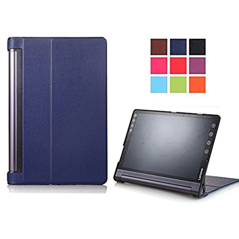 Yoga Tab 3 Pro 10 Etui - Ultra Slim étui Housse en Cuir Coque pour Tablette Lenovo Yoga Tab 3 PRO 10'' /Yoga Tab 3 Plus 10.1 Pouces Smart Cover Case Housse de Protection Pochette avec Support Fonctions -Bleu