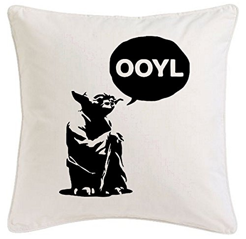 (Reifen-Markt Kissenbezug 40x40cm Yolo Yoda Swag Star Wars Skywalker You Only Live aus Mikrofaser ideales Geschenk und geschmackvolle Dekoration für jedes Wohnzimmer oder Schlafzimmer)