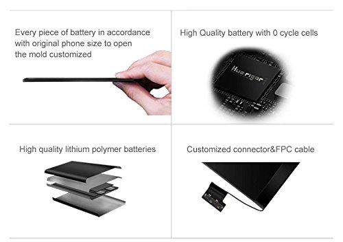 Cooligg Akku für iPhone 6S Ersatz Reparaturset inkl. Werkzeug Klebestreifen 1715mAh Batterie (Battery für iPhone 6S) - 4