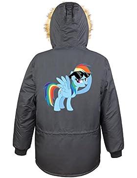 Rainbow Pony Parka Girls Nero Certified Freak