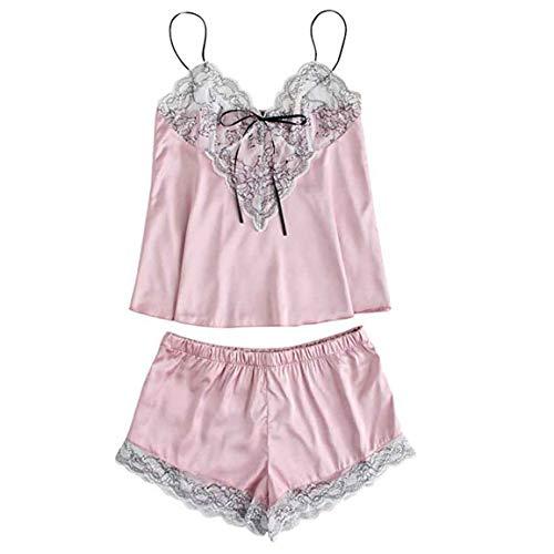 Mädchen-Nahtlose Damenmode-Unterwäsche-Feste Nette Spitze gestickte Silk Unterwäsche und Kurzschluss-Pyjama-Satz Spring Moonuy -