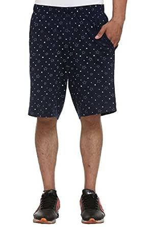 VIMAL JONNEY Men's Shorts (Small, Navy)-D12-PRT-NO.1-NVY-S
