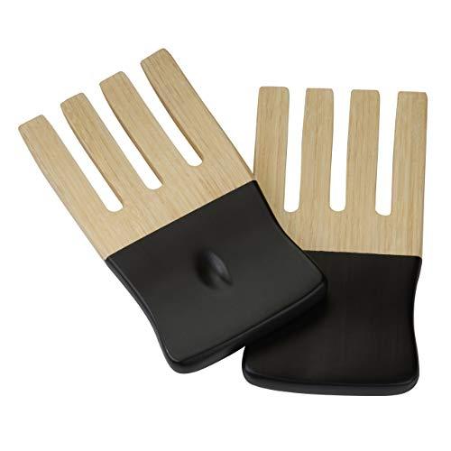 Premier Housewares 1104399 Kyoto Fourchette à Salade en Bambou Noir Mat
