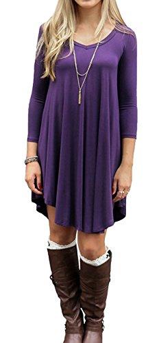 ASCHOEN - Robe - Manches Longues - Femme Violet