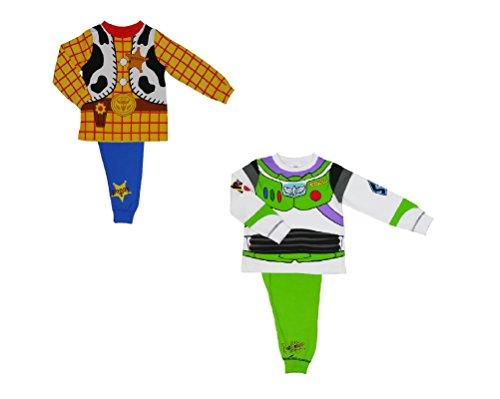 Toy Story 2 Pack Woody und Buzz Neuheit Pyjamas 18months - 18-24 months / 92 cms