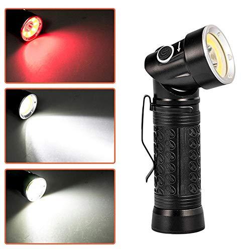 Teabelle Linterna LED Recargable T6 COB Fold 90 Grados
