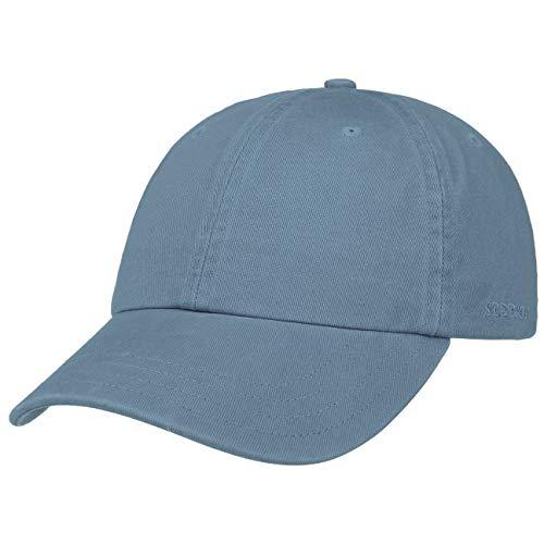Stetson Rector Basecap | Cap für Damen/Herren | Sonnenschutz-Cap aus Baumwolle (UV-Schutz 40+) | Baumwollcap größenverstellbar (55-60 cm) | Baseballcap Sommer/Winter dunkelblau One Size