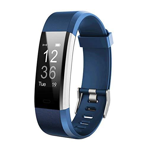 SparY Ersatz-Uhrenarmband, verstellbares Casual Ersatz-Armband - für Fitness-Tracker ID115HR Plus - für Damen und Herren, blau, id115 -