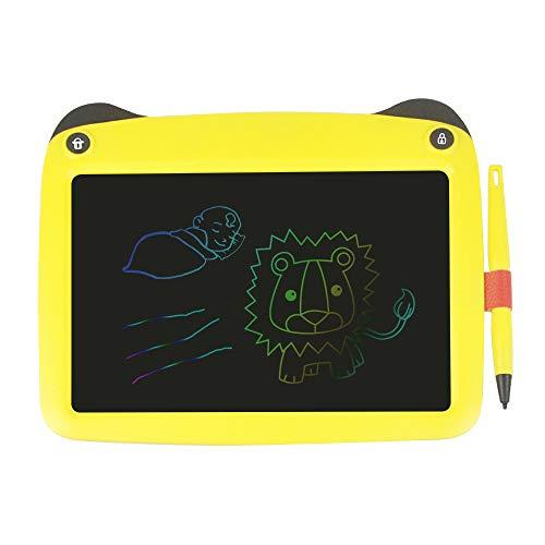 Festnight Tableta de escritura de 9 pulgadas LCD Tablero de dibujo para niños Tableros de dibujo Tablero gráfico portátil Escritura a mano Sketchpad con botón de bloqueo de borrado