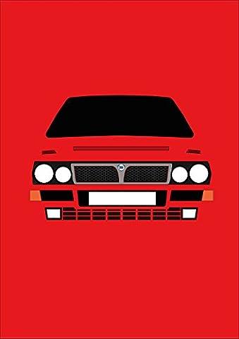 LANCIA DELTA Integrale–Retro Motor Company Grußkarte