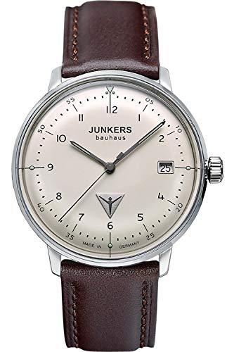 Reloj de Cuarzo Junkers Bauhaus Lady, Beige, 35 mm, Correa de piel, 6047-5