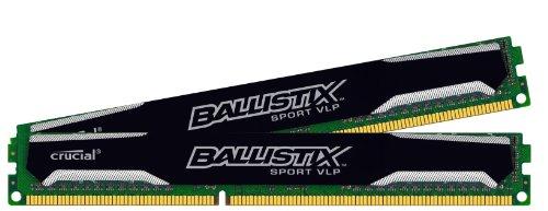 Ballistix Sport VLP Kit Memoria da 16 GB Kit (4 GBx4), DDR3, 1600 MT/s (PC3-12800), UDIMM 240-Pin - BLS4C4G3D1609ES2LX0BEU