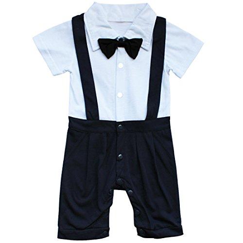 r Overall Einteiler Body für Jungen Anzug mit Fliege Taufe Smoking Geburt Geschenk Gr. 68 74 80 86, Marineblau, 80-86 (Herstellergröße 100) (Baby Geburt Halloween-kostüm)