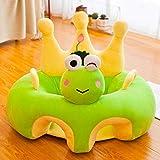 LYRAL Baby-Lernsitz, Cartoon Anime Kinder Sofa, Kreative Tierplüschspielzeugsicherheit Stuhl,Frog