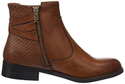 XTI Damen 047381 Booties Steinfarben (Camel)
