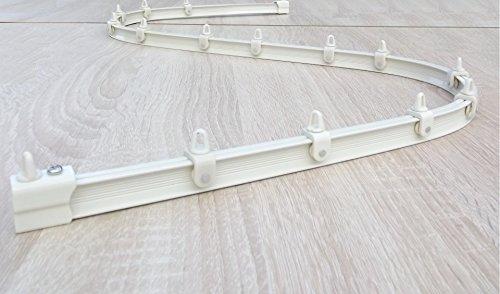 BarthSystème Mini-Rail de Rideau Cintrable Alu - Set Complet et Accessoires (500 cm, Blanc)