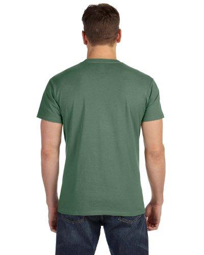 Hanes Herren Asymmetrischer T-Shirt Grün