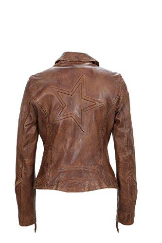 Freaky Nation Damen Jacke Star Reloaded, Braun (Cognac 8350), 44 (Herstellergröße: XXL) - 2